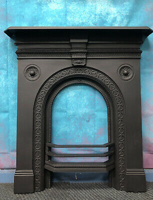 Victorian Cast Iron Fireplace Insert DELIVERY Free Or £35 Most  UK • 265£