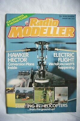 £4 • Buy 1988 Radio Modeller Magazine - January + Plans For Hawker Hector Conversion