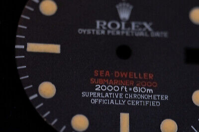 $ CDN351.15 • Buy Replacement Dial For Rolex 1665 DRSD Wrist-watch (vintage Double Red Sea Dweller