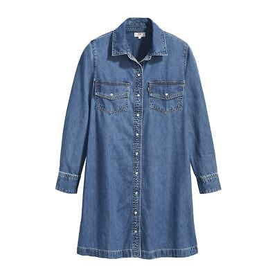 LEVI'S Long Sleeved Denim Classic Shirt Dress Size 10 M New Tags RRP £85 • 49.97£