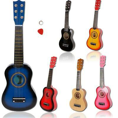 21  23  25  Kids Wooden Acoustic Guitar Children XMAS Toy Gift W/ Pick 6 Strings • 13.99£
