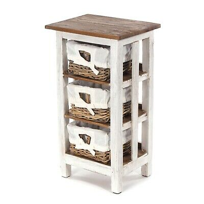 LITTLE CHEST OF DRAWERS RATTAN | Wood, 70x40x30cm (HxWxD) | Bathroom Shelf • 49.95£