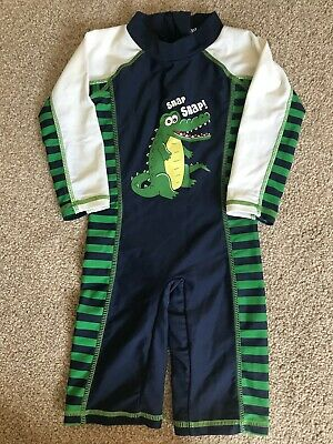 Baby Boy Crocodile Swimming Costume UV Suit  -  Age 12-18 Months • 4.99£