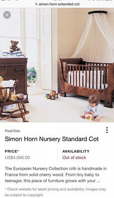Simon Horn Cherry Wood Cot Bed • 125£