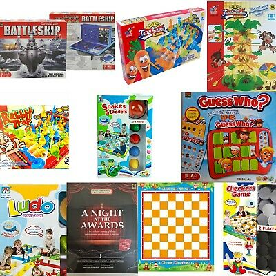 Guess Who Ludo Battleship Snakes & Ladders Rabbit Trap -  Family Board Games • 8.95£