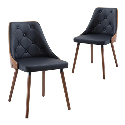 AU350 • Buy Simplife Black Sarah Faux Leather Dining Chair (Set Of 2)