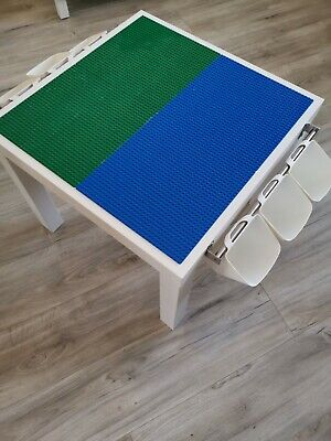 Lego Table Brand New Blue And Green Base Plate Organised Lego Play Set Up • 45£