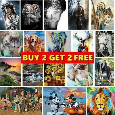 £5.99 • Buy Full Drill DIY 5D Diamond Painting Cross Stitch Kits Embroidery Home Decor Gift