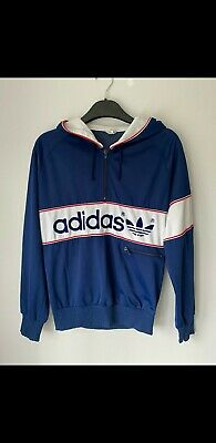 Vintage Og 80's Adidas New York Hooded Track Top Size Small • 30£