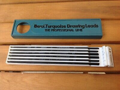 £7 • Buy Vintage Pencil Drawing Leads Berol Turquoise E1