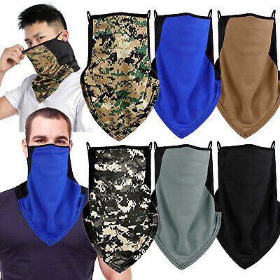 $7.99 • Buy Face Mask Bandana Reusable Washable Cover Neck Gaiter Neckerchief With Loops Ear