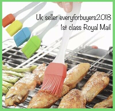 Baking Oil Brush Silicone Cooking Butter Basting Pastry BBQ Barbecue Brushes New • 2.95£