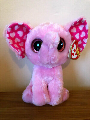 Ty Sugar The Elephant Beanie Boos New With Tags 15cm Valentine's Day • 17.95£