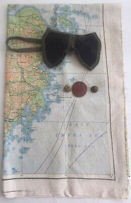 Silk Escape Map Double Sided Raf Ww2 Original - East China / Formosa + Other/s • 95.99£