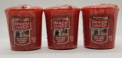 Yankee Candle - KITCHEN SPICE SCENT VOTIVES - Pack Of 3 EACH 1.75oz - 49gram  • 7.51£