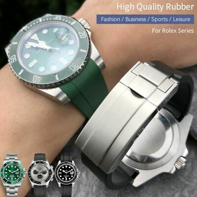 $ CDN52.25 • Buy 19 20 21 Rubber Watch Band For Rolex Daytona Submariner Oysterflex GMT Deepsea !