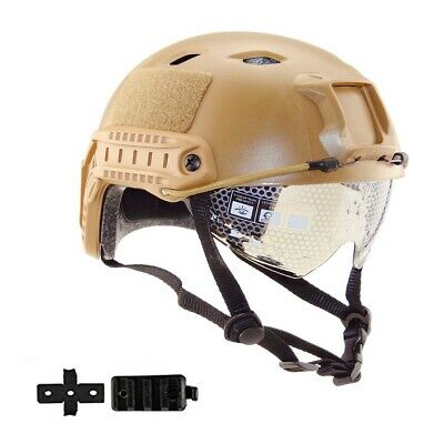 $26.99 • Buy Tactical Airsoft Paintball Military Protective SWAT Helmet +Sparta Mask Sand