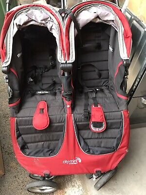 Baby Jogger City Mini Double Pushchair - Red • 120£