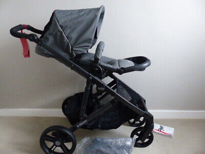 Britax B-Ready Pushchair Black & Grey With Raincover - New - Can Be As A Double • 188.95£