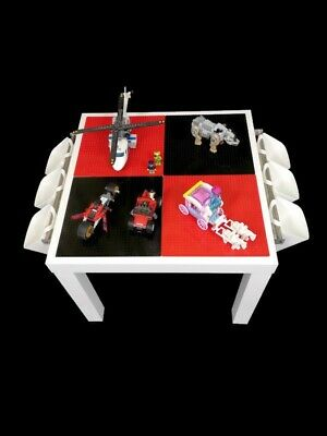 Lego Table Brand New Red And Black Base Plate Organised Lego Play Set Up • 45£