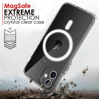 MagSafe Magnetic Clear Case For IPhone 12 Pro Max Mini, IPhone 11 Shockproof   • 8.99£