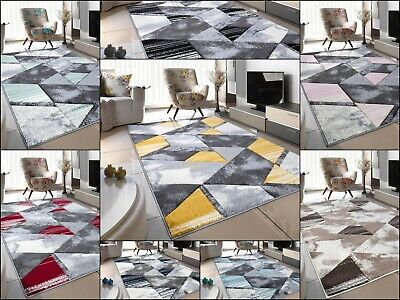 New Modern Bright Funky Thick Hand Carved Soft Heavy Large Area Rug Runner Mat • 15.99£