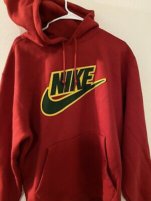 $ CDN261.82 • Buy Supreme X Nike Leather Applique Hoodie-Large Red