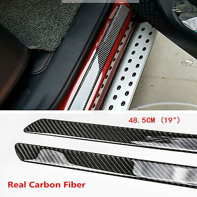 AU23.89 • Buy Car Stickers Parts Accessories Carbon Fiber Door Sill Protector Scuff Plate Trim