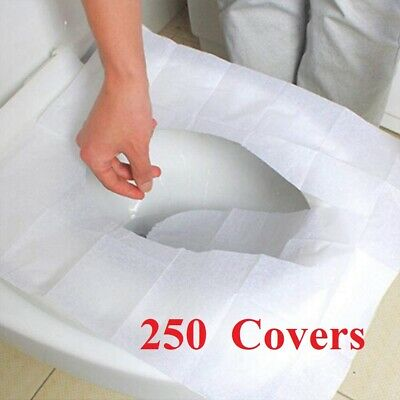 £9.95 • Buy Disposable Hygienic Flushable Paper Toilet Seat Cover Health Covers 250pcs