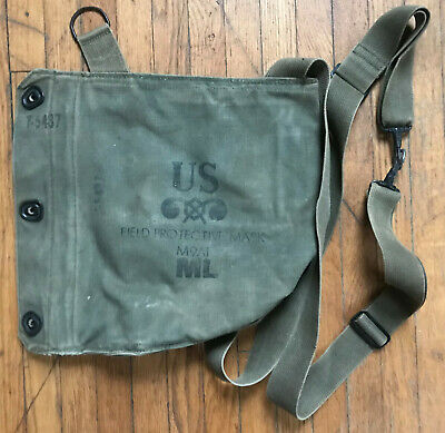 $19.99 • Buy Vintage US MILITARY FIELD PROTECTIVE GAS MASK BAG M9A1 POUCH ONLY VIETNAM WW2