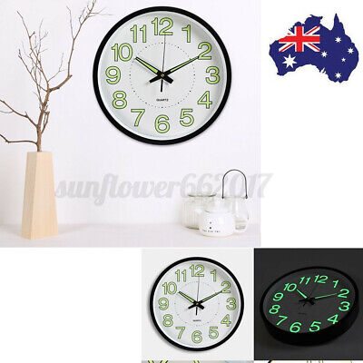 AU20.10 • Buy Wall Clocks Quartz Round Wall Clock Silent Non Ticking Battery Operated 12'' AU