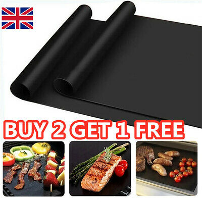 £2.99 • Buy BBQ Grill Mat Non-Stick Oven Liners Cooking Barbecue Baking Sheet Tray UK