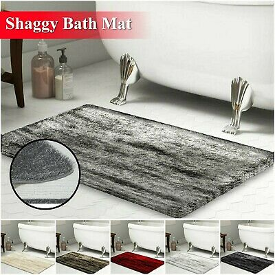 Non Slip Soft Bath Mat Small & Large Water Absorbent Bathroom Rug Washable Mats • 9.99£