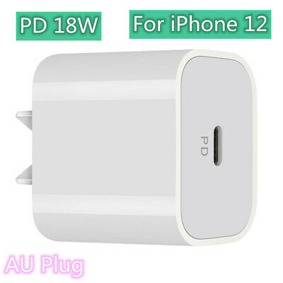 AU6.90 • Buy 18W PD AU Plug USB Wall Charger Power Adapter Quick Fast Charging For IPhone 12