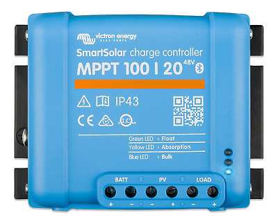 SmartSolar MPPT 100/20 12-24-48V Solar Charge Controller - Bluetooth - Victron • 144.95£
