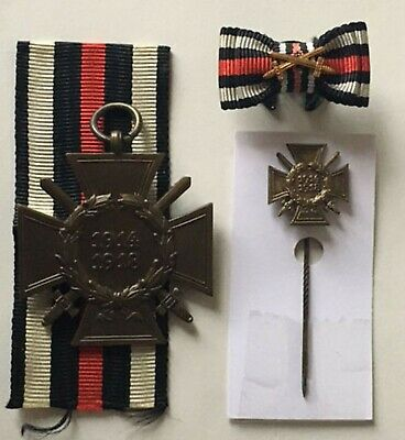 £39.99 • Buy Medal German Ww1 Cross Of Honour With Swords Combatant + Stickpin + Buttonhole
