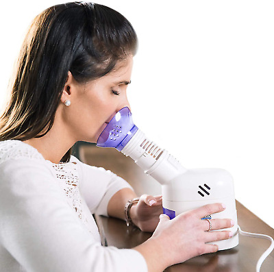 $42.52 • Buy Mabis Personal Steam Inhaler Vaporizer With Aromatherapy Diffuser, Purple And Wh