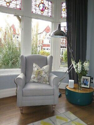 Grey MARKS & SPENCER M&S Wing Back Armchair • 325£