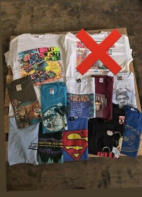 $ CDN136.86 • Buy Vintage 90s T Shirt Bundle - Lot Of 12 Vintage Single Stitched T Shirts Made USA