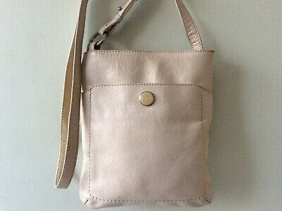 BAILEY & QUINN Real Leather Ladies Small Beige Messenger Crossbody Shoulder Bag • 14£