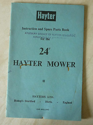 1964 Hayter 24  Lawn Mower Instruction Parts List (villiers Mark 15 Engine) • 25£