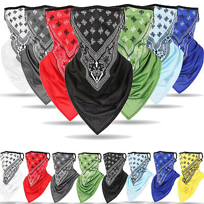 $7.49 • Buy Face Mask Bandana Reusable Washable Scarf Neck Gaiter Neckerchief With Loops Ear