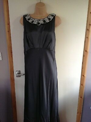£20 • Buy Womens Maxi Evening Prom Party Dress Grey Size 16