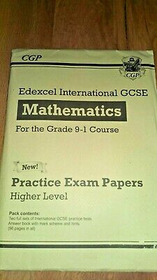 CGP Mathematics Practice Exam Papers For IGCSE Higher Level NEW 9781789086843 • 5.55£