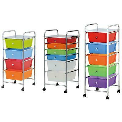 £34.99 • Buy 4 /5 /6 Drawer Colourful Mobile Storage Solution Trolley On Wheels Salon Office