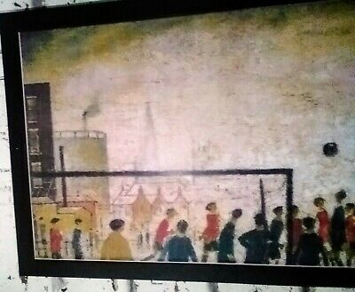 Ls Lowry  The Football Match Block Framed • 12.50£