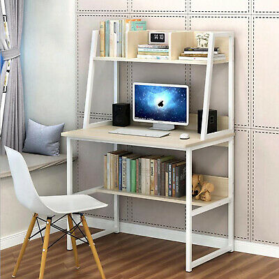AU97.99 • Buy Small Computer Desk Laptop Table Bookshelf Storage Home Office Study Workstation