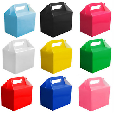 £3.49 • Buy 12 X Childrens Kids Party Lunch Boxes Colour Birthday Wedding Meal Food Loot Bag