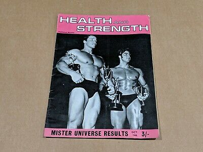 Vintage Bodybuilding Magazine - 1968 Health And Strength Arnold Schwarzenegger • 135£