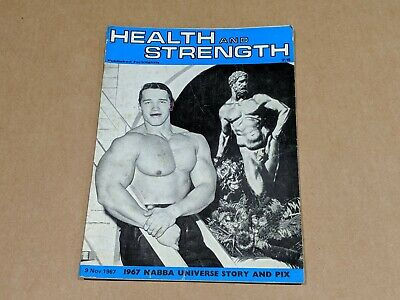 Vintage Bodybuilding Magazine - 1967 Health And Strength Arnold Schwarzenegger • 85£